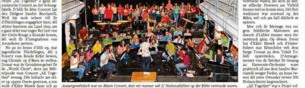 E Concert, deen zesummebruecht huet
